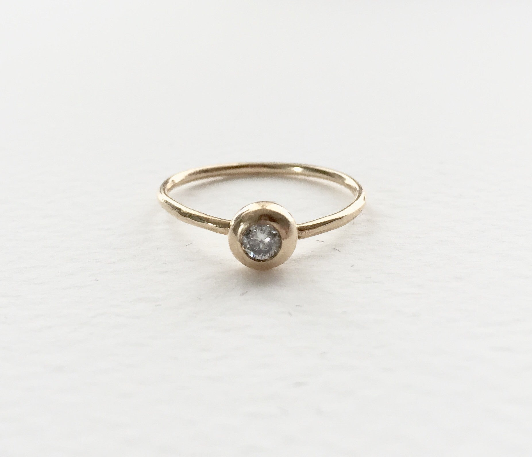 Forget Me Knot White Diamond Ring