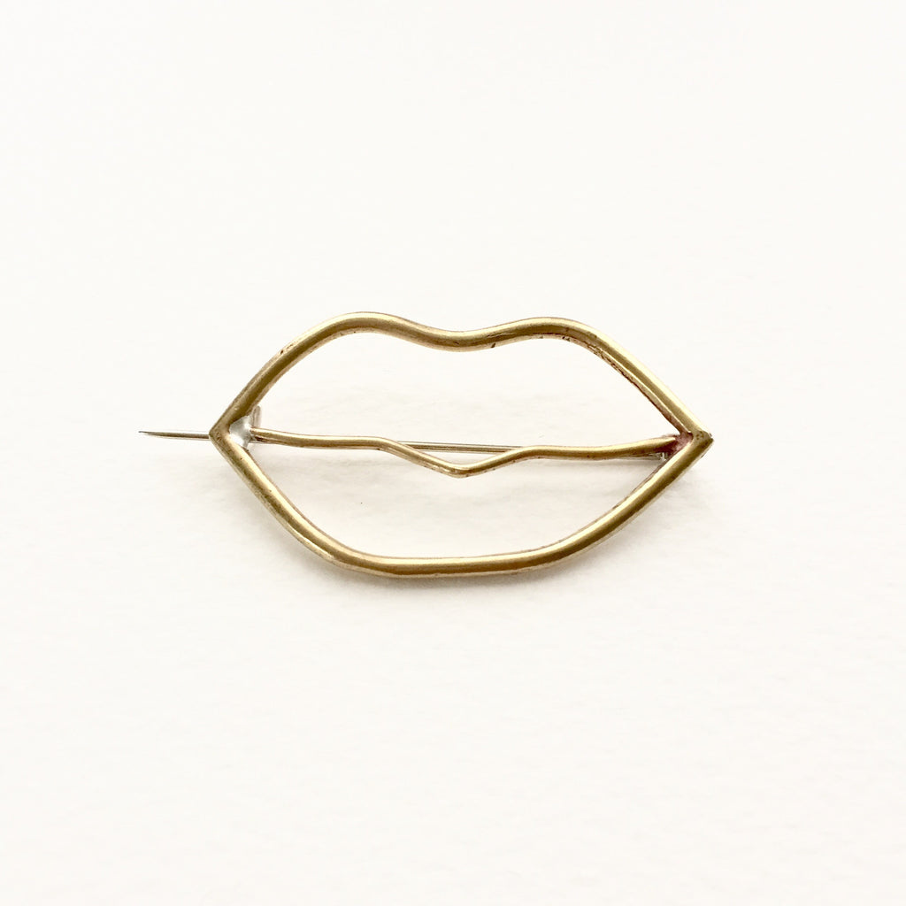 Erin Diane Silver and Brass Lip Pin
