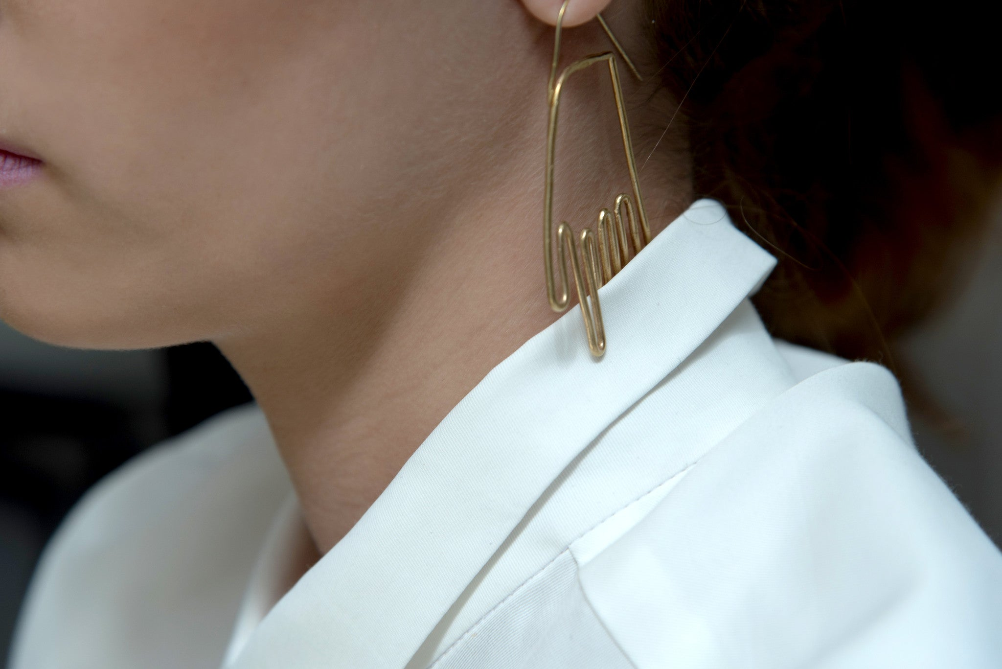 Erin Diane Brass hand earrings