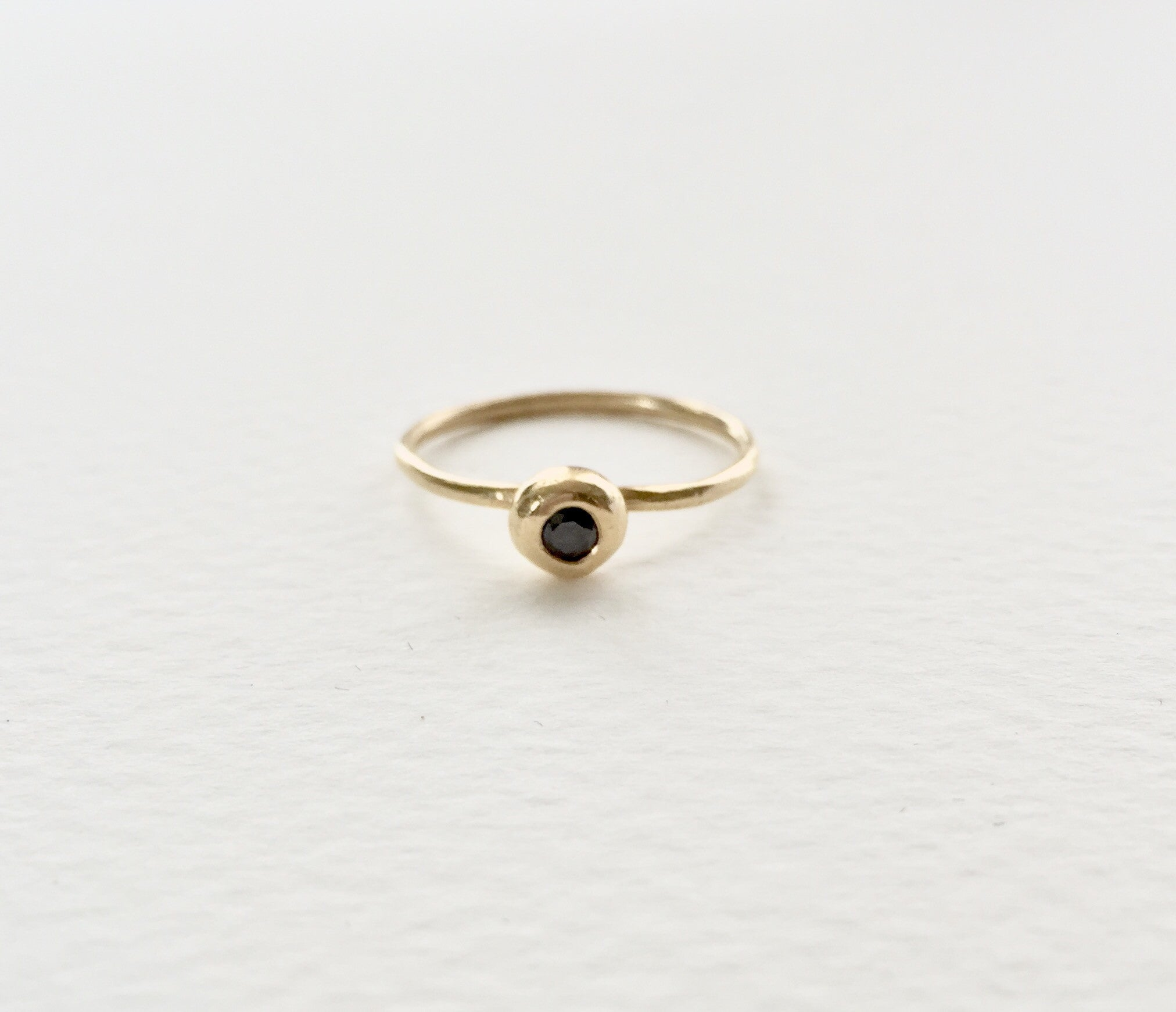 Forget Me Knot Black Diamond Ring