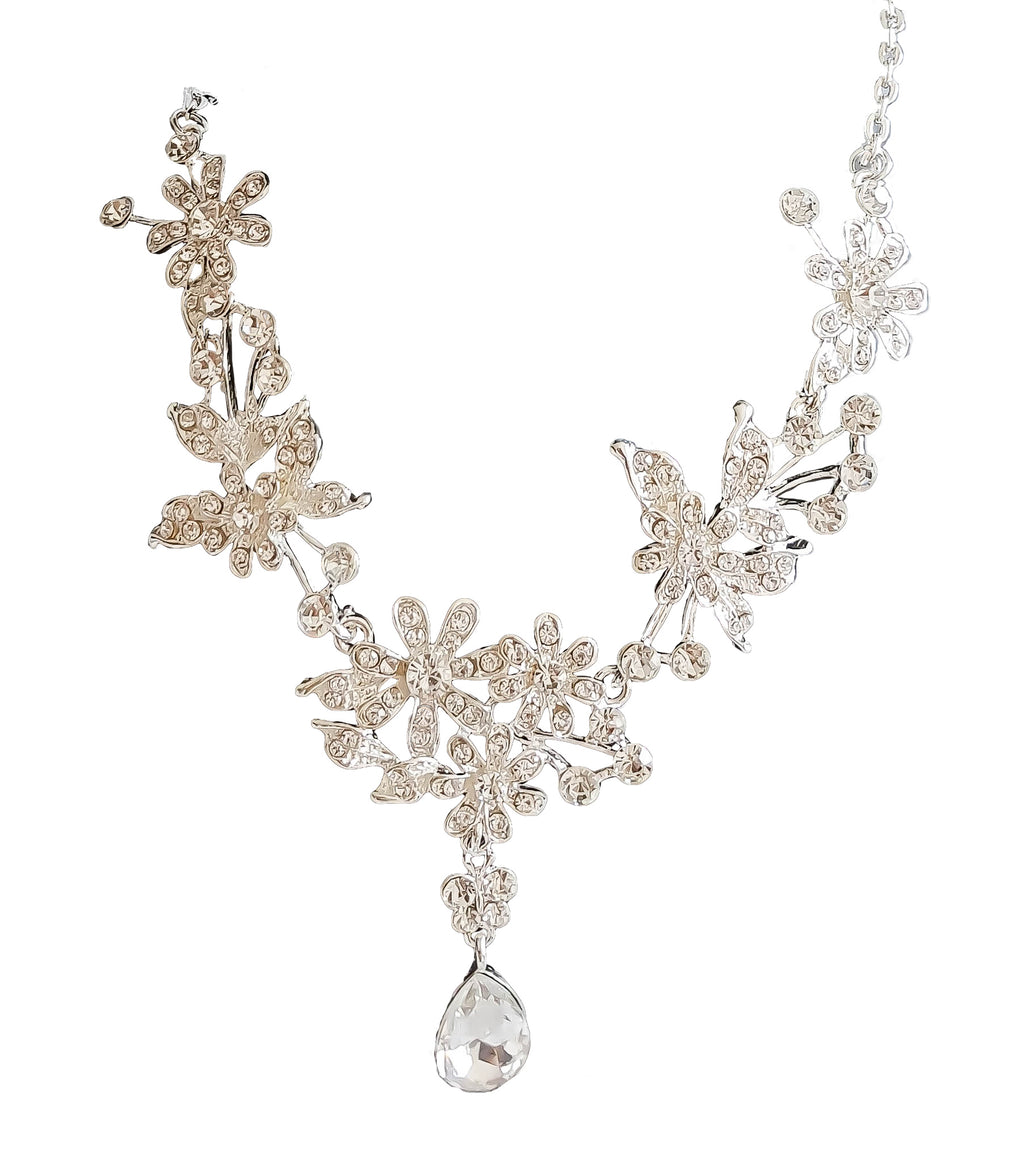 Large Floral Necklace and Earrings Set - Vlure