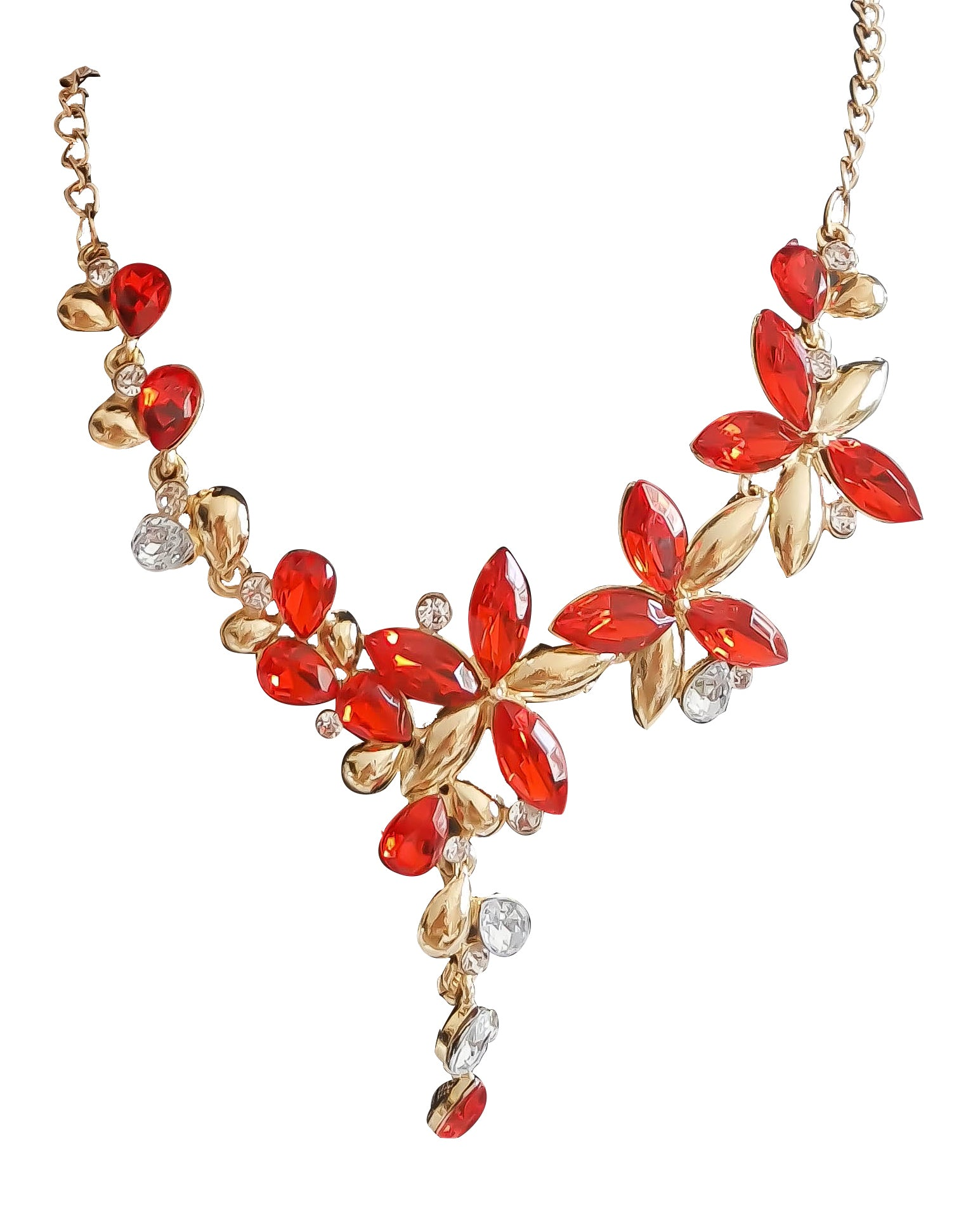 Flower Necklace and Earrings Set - Vlure