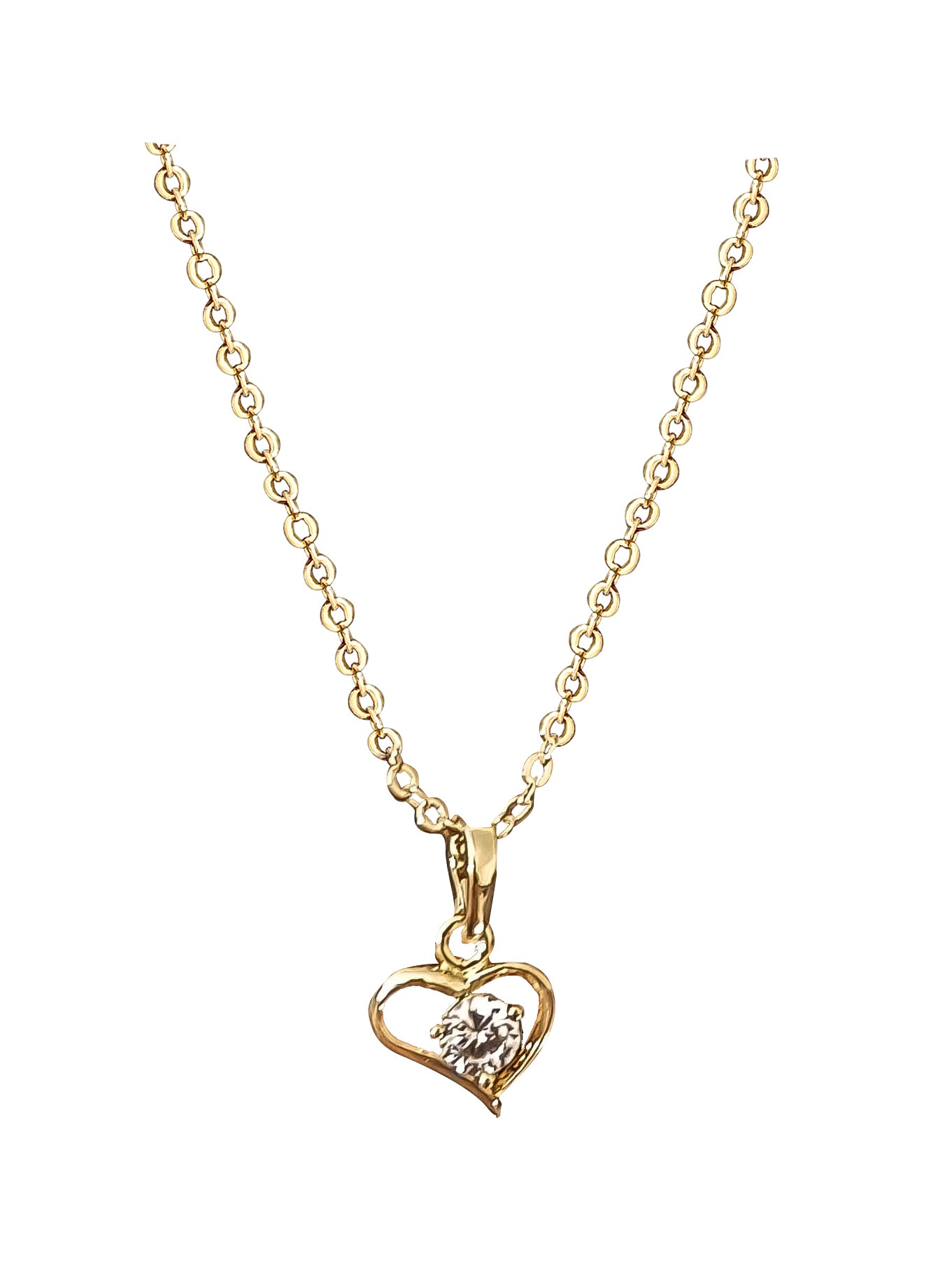 Dainty Heart Crystal Necklace