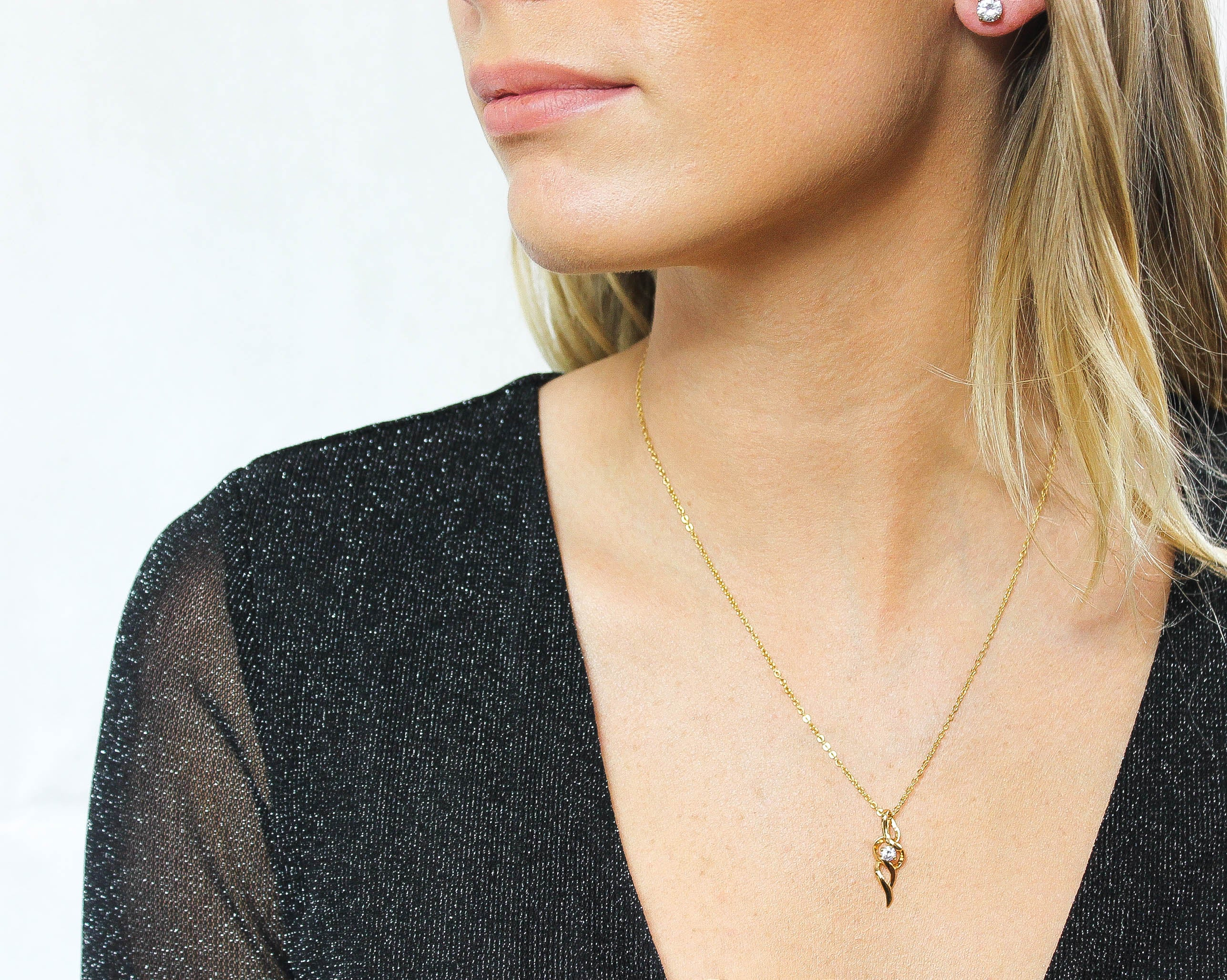Cone Pendant Necklace - Vlure
