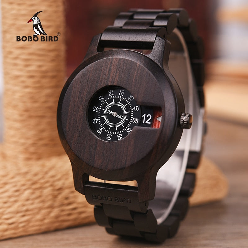 Relogio Masculino BOBO BIRD Men Watch Wooden Luxury Brand Quartz Wristwatch