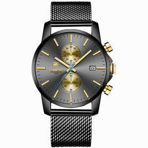 Men's CHEETAH Watch         Sports Quartz Watches Mens Leather Waterproof Chronograph