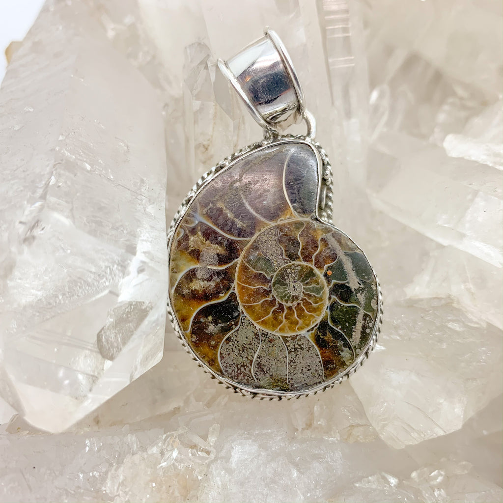 Ammonite Pendant $160