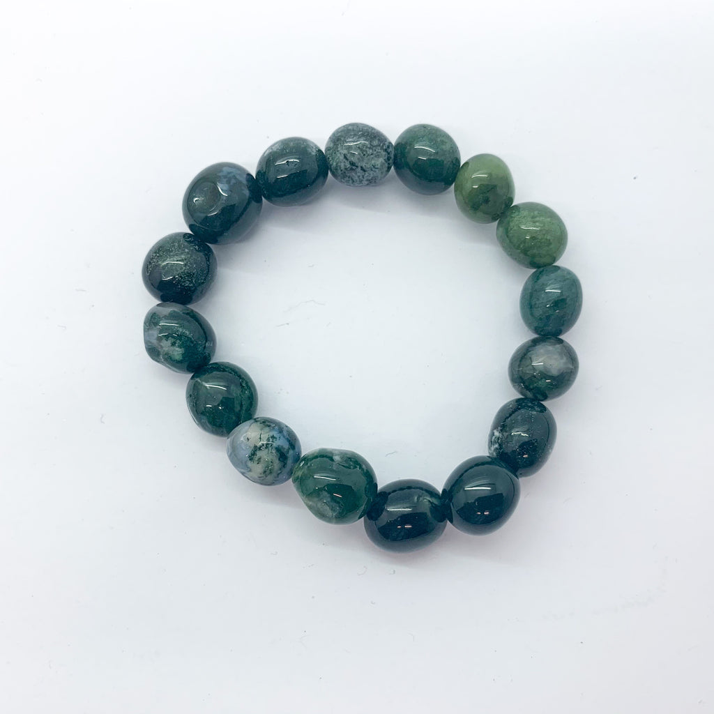Bloodstone Beaded Bracelet $35