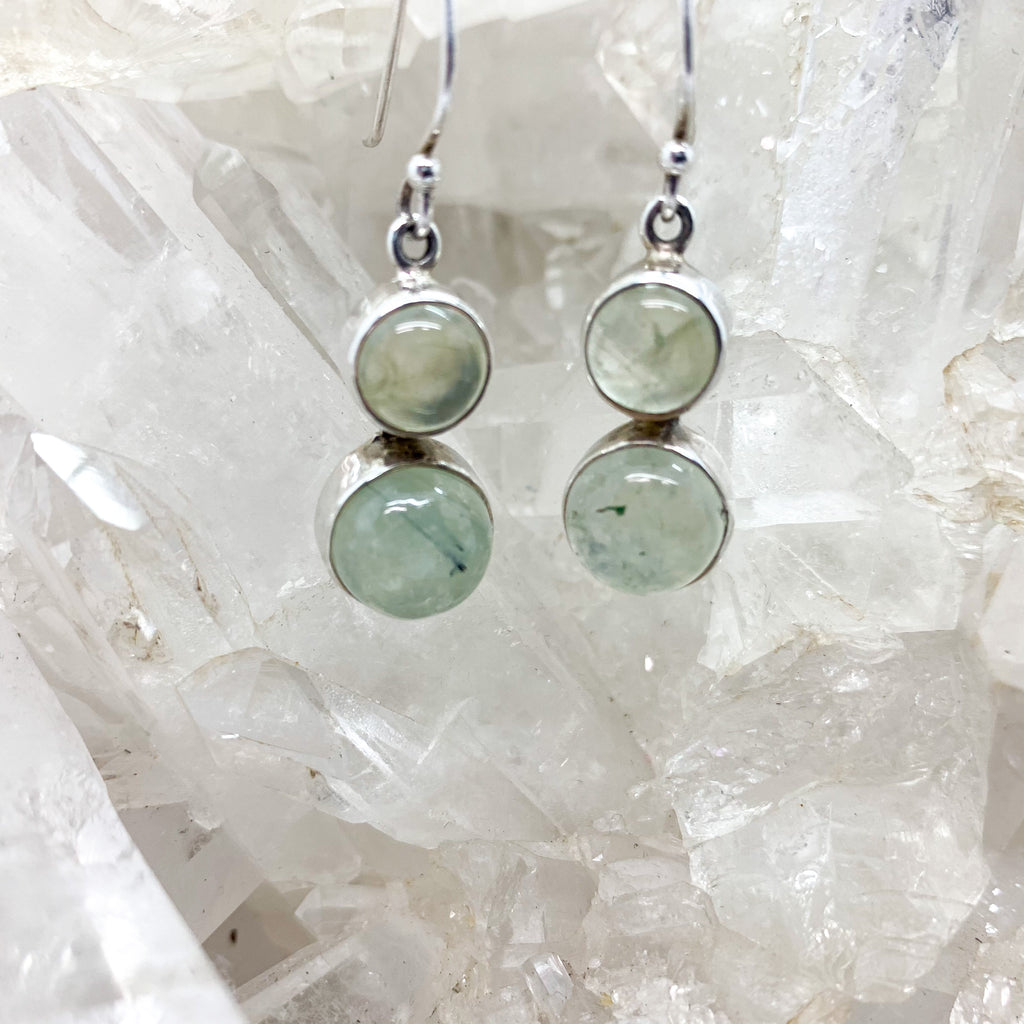 Prehnite Earrings $60