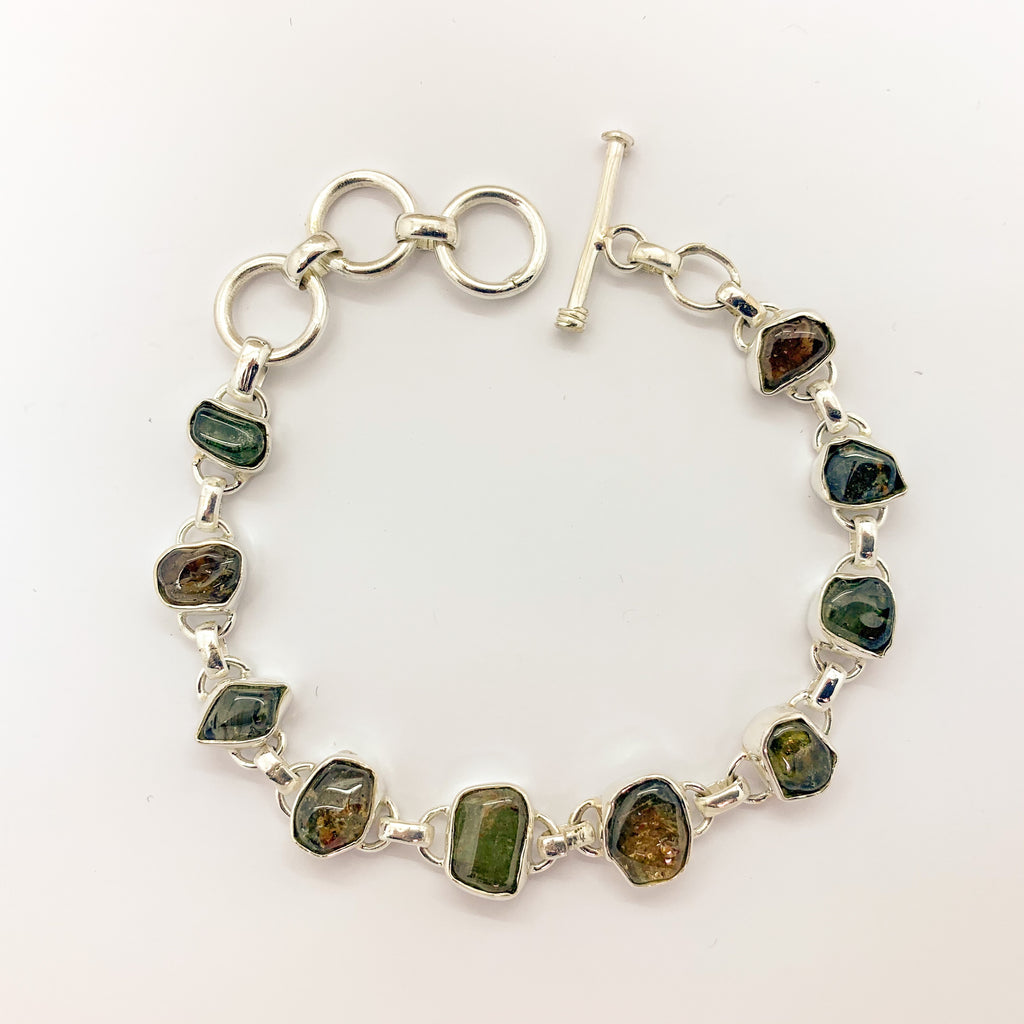 Watermelon Tourmaline Bracelet $185