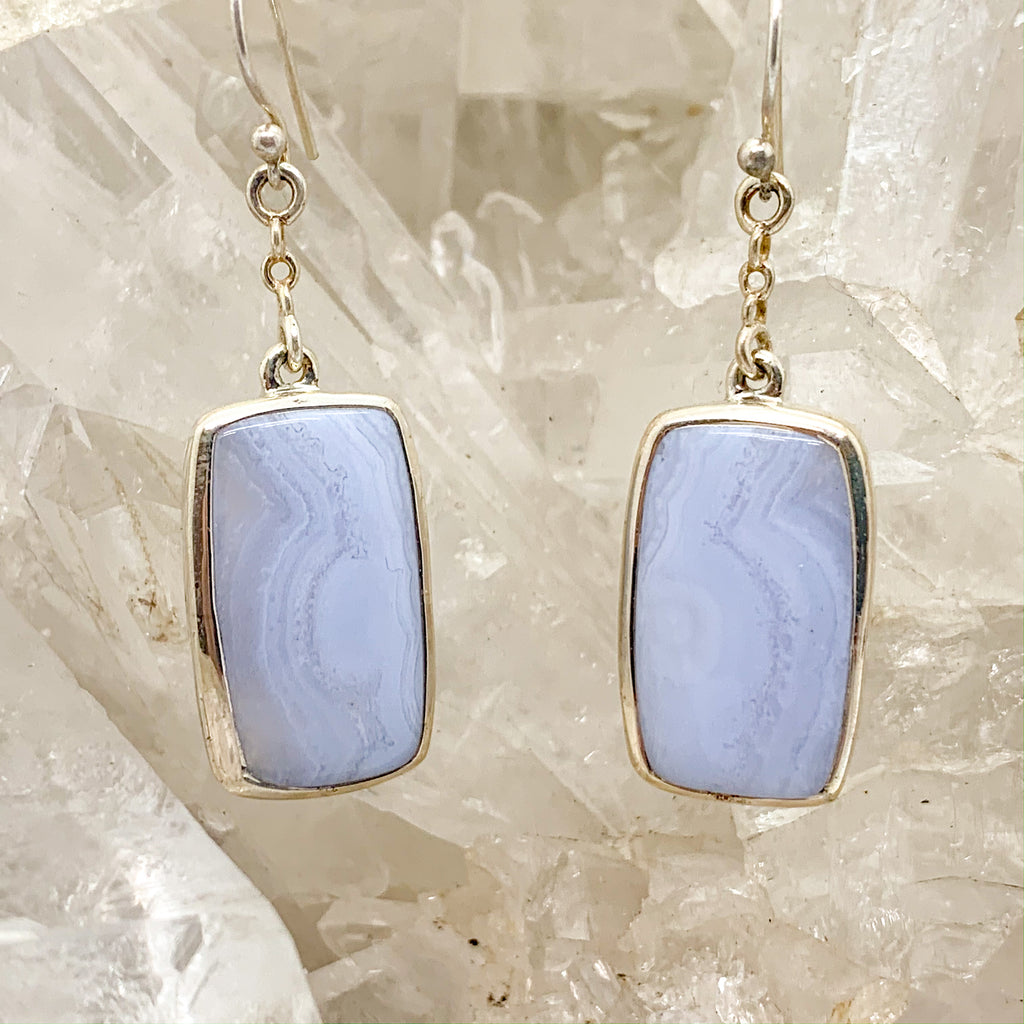 Blue Lace Agate Earrings $80