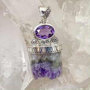 Faceted Amethyst Pendant $280