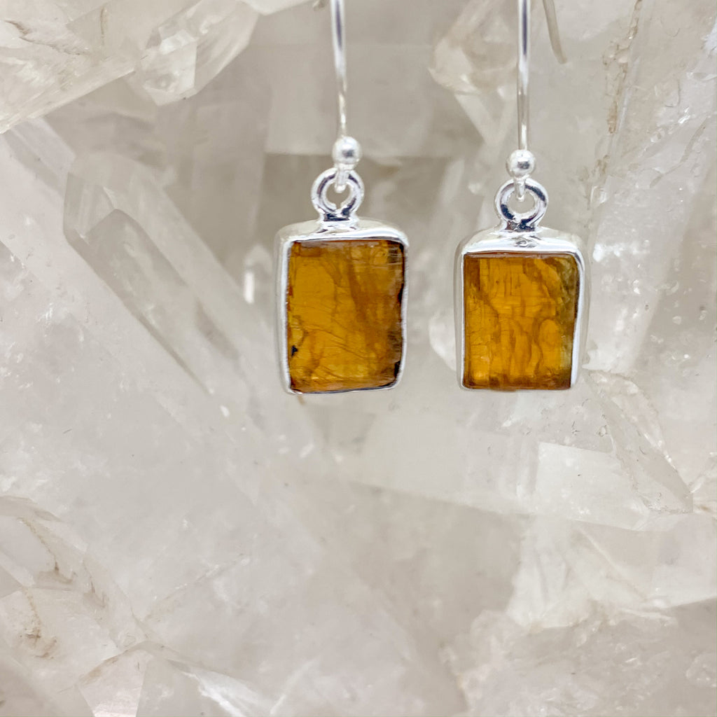 Orange Kyanite Earrings $49