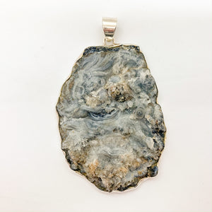 Raw Blue Lace Agate Pendant $220