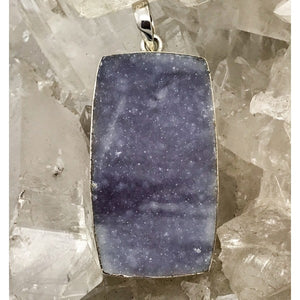 Raw Blue Lace Agate Pendant $160