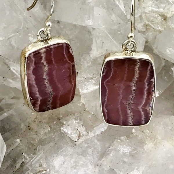 Rhodochrosite Earrings $90