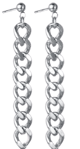 CHAINZ - SILVER LONG EARRING