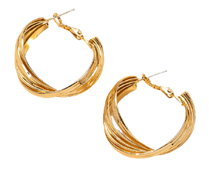 SHELL HOOPS - GOLD