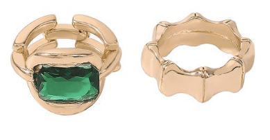 EMERALD - GOLD (2 SET - SIZE 7/8) - LIMITED EDITION