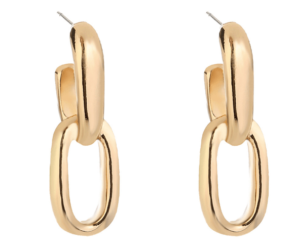 DOUBLE HOOPS - GOLD