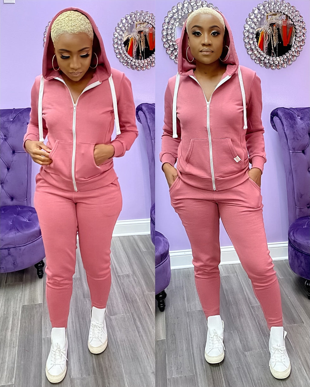 Pull Over Hoodie Jogger set