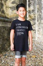 Load image into Gallery viewer, Stronger Than I Think Kids Tee
