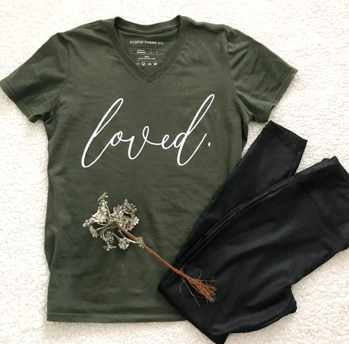 'Loved' V-Neck