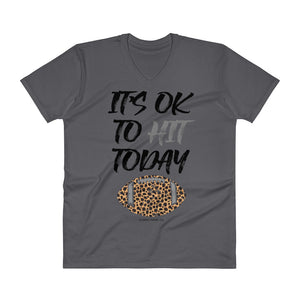 'It's Ok To Hit Today' V-Neck Tee