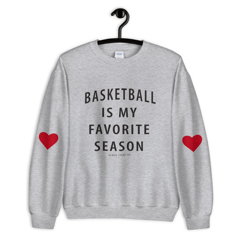 Basketball is my favorite season with heart sleeves