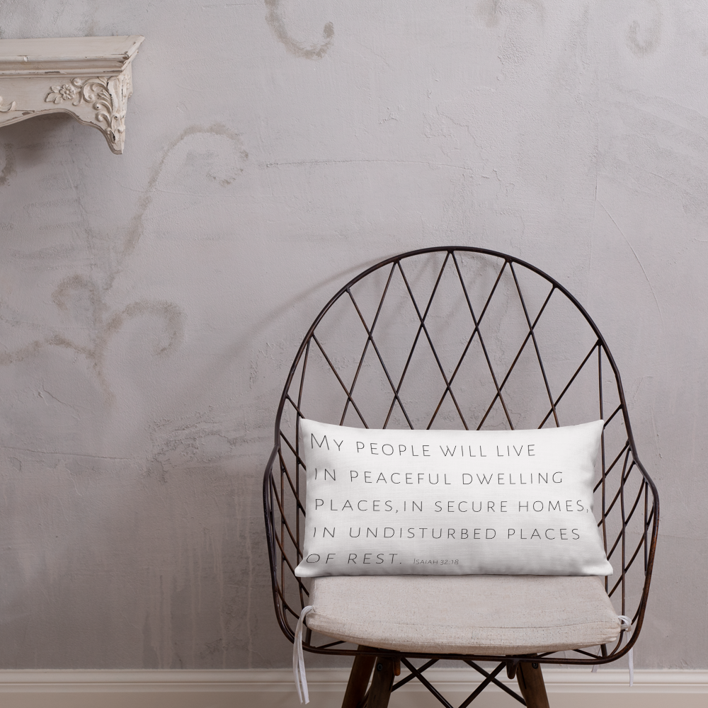 'Peaceful Dwelling Places' Pillow