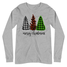 Load image into Gallery viewer, Merry Christmas Plaid Long-Sleeve Tee