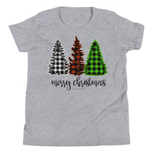 Load image into Gallery viewer, Merry Christmas Plaid Kids T-Shirt