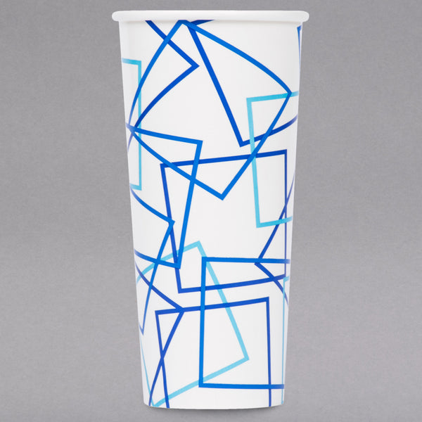CHOICE 22 OZ. POLY PAPER COLD CUP - 1000/CASE