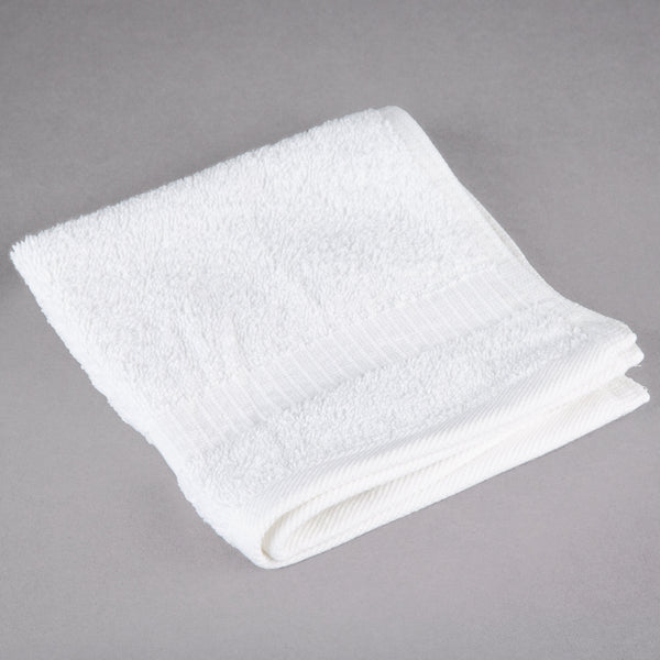 WASH CLOTH / OXFORD BELLEZA / 13 X 13 / 1.5 LB / WHITE (DOZEN)
