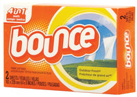 BOUNCE VENDING / BOUNCE OUTDOOR FRESH SCENT DRYER SHEETS FOR COIN VEND MACHINES (2-COUNT / 156/CASE)