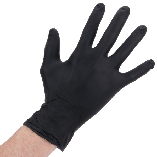 NITRILE HD GLOVE / BLACK / LARGE / 6 MIL / 100/BOX (10/CS)