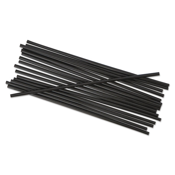 "SIP STIR STRAW / 5.25"" / BLACK (1,000/10/10,000)"