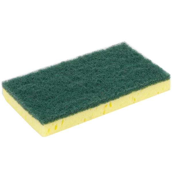 "6"" X 3 1/2"" SPONGE WITH GREEN SCRUBBER - 6/PACK"
