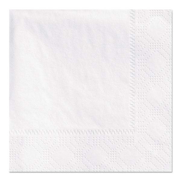 HOFFMASTER BEVERAGE NAPKINS, 2-PLY 9 1/2 X 9 1/2, WHITE, EMBOSSED (1,000/CS)