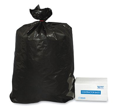 32 X 50 / 42 GAL. / LOW-DENSITY / BLACK CONTRACTOR BAGS / 3.0 MIL (50/CS) (CTBG)