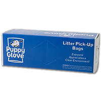 PUPPY GLOVE LITTER PICK UP BAGS 200/BOX 30/BOXES PER CASE