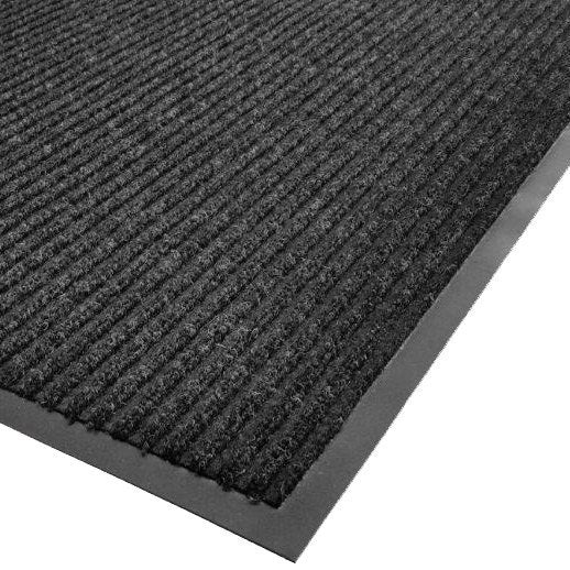 "CACTUS MAT 1485M-L23 2' X 3' CHARCOAL NEEDLE RIB CARPET MAT - 3/8"" THICK"