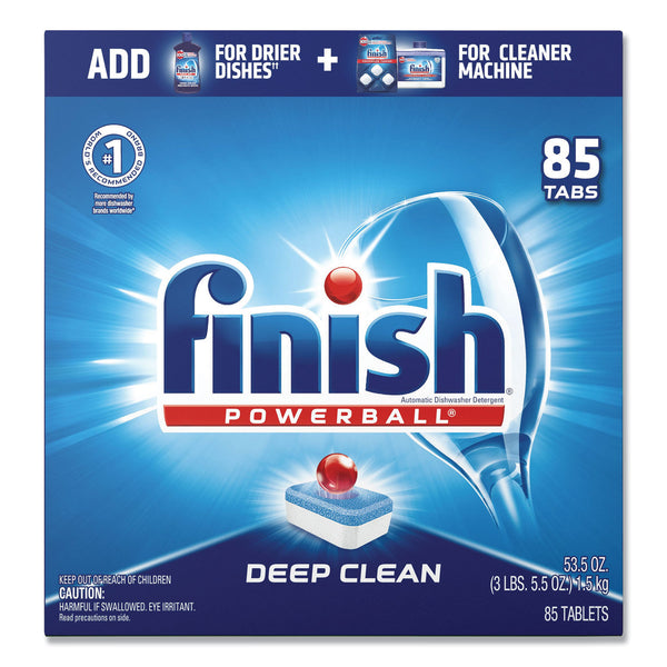 FINISH POWERBALL DISHWASHER TABS, FRESH SCENT, 85/BOX (4/CS)