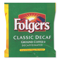 FOLGERS 4 CUP DECAF COFFEE FILTER PACKS, DECAFFEINATED, IN-ROOM LODGING, .6 OZ, 200/CARTON