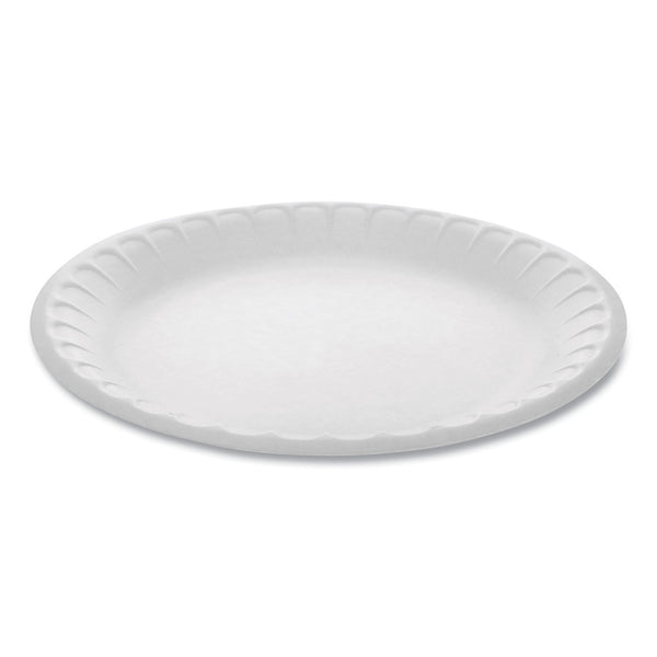 "FOAM PLATE / 9"" / WHITE / NON-LAMINATED (500/CS)"