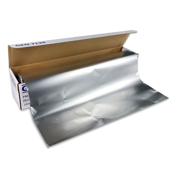 "HEAVY-DUTY ALUMINUM FOIL ROLL, 18"" X 500 FT"