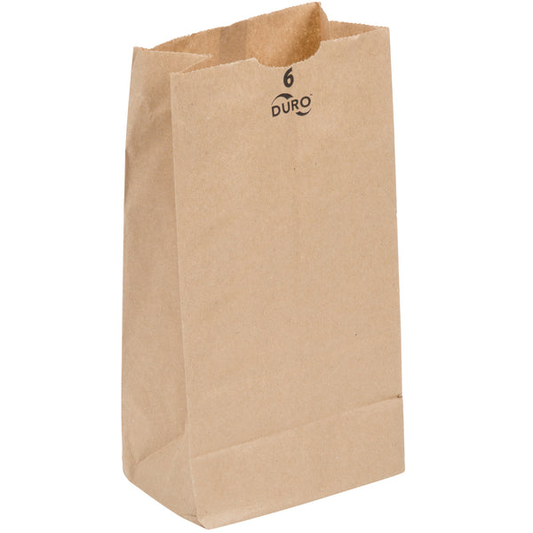 DURO 6 LB. BROWN PAPER BAG - 500/BUNDLE