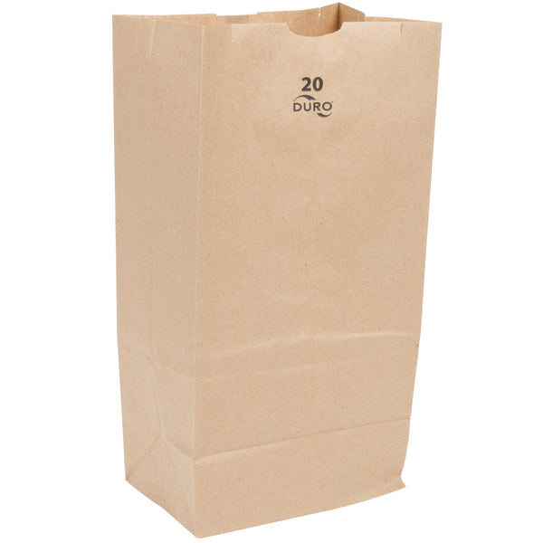 DURO 20 LB. BROWN PAPER BAG - 500/BUNDLE