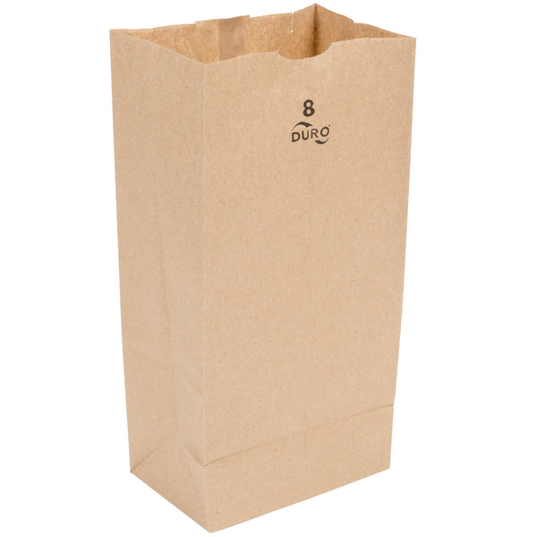 DURO 8 LB. BROWN PAPER BAG - 500/BUNDLE