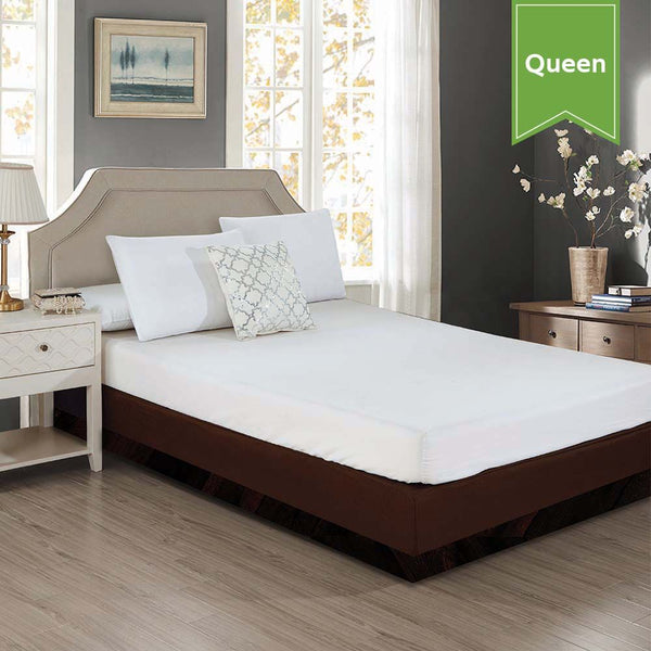 FITTED BOX SPRING WRAP / QUEEN / BROWN / 60 X 80 + 105 (EACH)